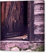 Package By Open Front Door Canvas Print