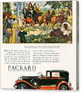 Packard 1930 1930s Usa Cc Cars Horses Canvas Print