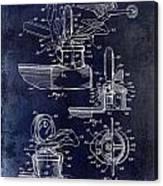 Packard Hood Ornament Blue Canvas Print