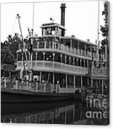 Paddle Boat Black And White Walt Disney World Canvas Print