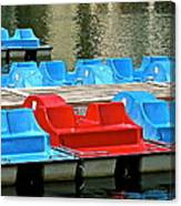 Paddle Boats Canvas Print