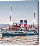 Paddle Steamer Waverley Canvas Print
