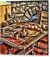 Padre's Table By Diana Sainz Canvas Print