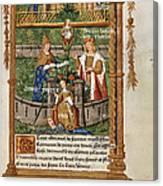 Pageant At Saints-innocents Canvas Print