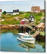 Peggy's Cove Boat Tours Canvas Print