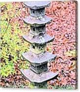Pagoda In Autumn Canvas Print
