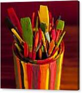 Paint Can And Paint Brushes Still Life Canvas Print