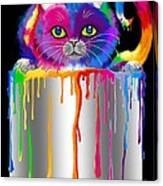 Paint Can Cat Canvas Print