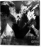 Paint Over Nude Silhouette Canvas Print