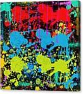 Paint Splatter - Black Canvas Print