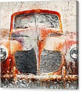 Painted 1940 Desoto Deluxe Canvas Print
