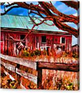 Painted Barn Canvas Print