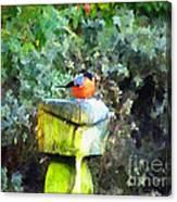 Painted Bullfinch S1 Canvas Print