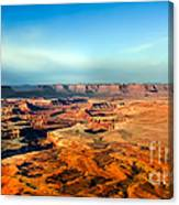 Painted Canyonland Canvas Print