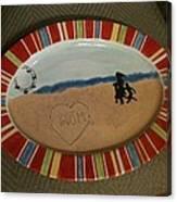 Painted Dish Canvas Print