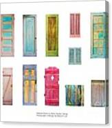 Painted Doors And Window Panes Canvas Print