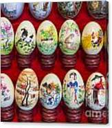 Painted Eggs In China Market Canvas Print