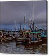 Painted Harbor Canvas Print