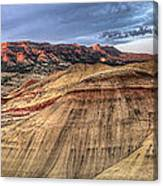 Painted Hills In Oregon Panorama Canvas Print