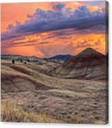 Painted Hills Sunset Canvas Print