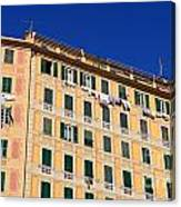 painted homes in Camogli Canvas Print