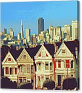 Alamo Square San Francisco - Digital Art Canvas Print