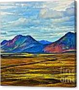 Painted Mountain Canvas Print