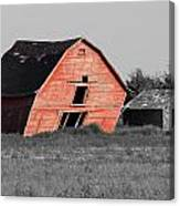 Painted Old Barn Canvas Print