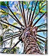 Painted Palms Canvas Print