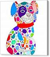 Painted Pooch Canvas Print