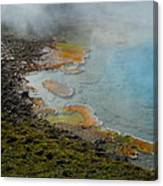 Painted Pool Of Yellowstone Canvas Print