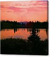 Painted Sunset Canvas Print