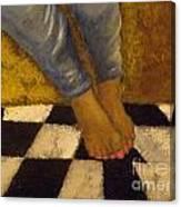 Painted Toe Nails Canvas Print