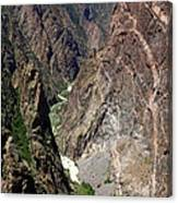 Painted Wall Black Canyon Of The Gunnison Canvas Print