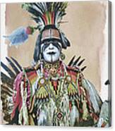 Painted  Warrior  Canvas Print