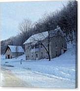 Painted Winter Canvas Print