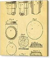 Painter Bottle Cap Patent Art 1892 Canvas Print