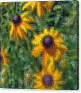 Painterly Flowers Canvas Print