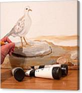 Painting A Dove Canvas Print