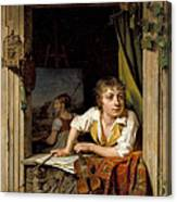 Painting And Music. Portrait Of The Artists Son Canvas Print