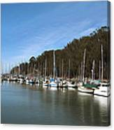 Painting Bay Side Harbor Canvas Print