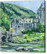 Eilean Donan Medieval Castle Scotland Canvas Print