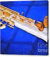 Painting Of A Soprano Saxophone And Butterfly 3352.02 Canvas Print