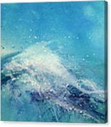 Painting Of An Ocean Wave Canvas Print