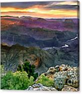 Painting Of Desert View Grand Canyon Canvas Print