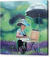 Painting The Lavender Fields Canvas Print