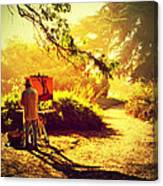 Painting The Path Canvas Print
