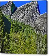 Painting Three Brothers Peaks Yosemite Np Canvas Print