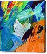 And God Said Let There Be Light - Genesis1 3 - Blue Abstract Expressionist Painting Canvas Print