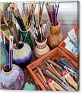Painting Work Table Canvas Print